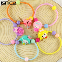 isnice 10pcs/lot Many Patterns Animal Hair Accessories for Girls  Elastic Hair Bands Rubber Bands Headwear Gum For Hair hairpins