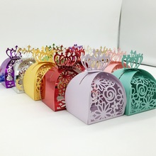 candy box bag chocolate paper gift box crown flower lace for Birthday Wedding Party Decoration craft DIY favor baby shower