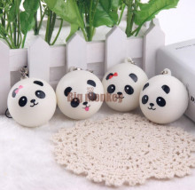 Big monkey 40pcs/Lot, 4CM PU 4 STYLES Kawaii Mini Panda Couple Squishy Cell Phone Charm/Free Shipping