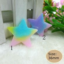 Kawaii Colorful Star Flatback Resin Cabochon Craft For DIY mobile phone case headband supplies Decoration Scrapbooking(China)