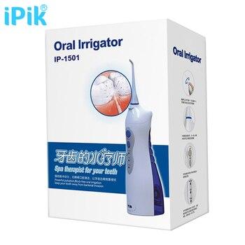 IPik IP-1501 Стоматологическая Воды Flosser Вода Pick Аккумуляторная Оральный Ирригатор Waterpick Стоматологическая Flosser Ирригатор Вода Зубной Нитью