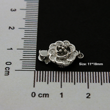 Free Shipping 3pcs/lot 925 Sterling Silver Necklace Clasp Jewelry Clasp 11*18mm CN-BFS028