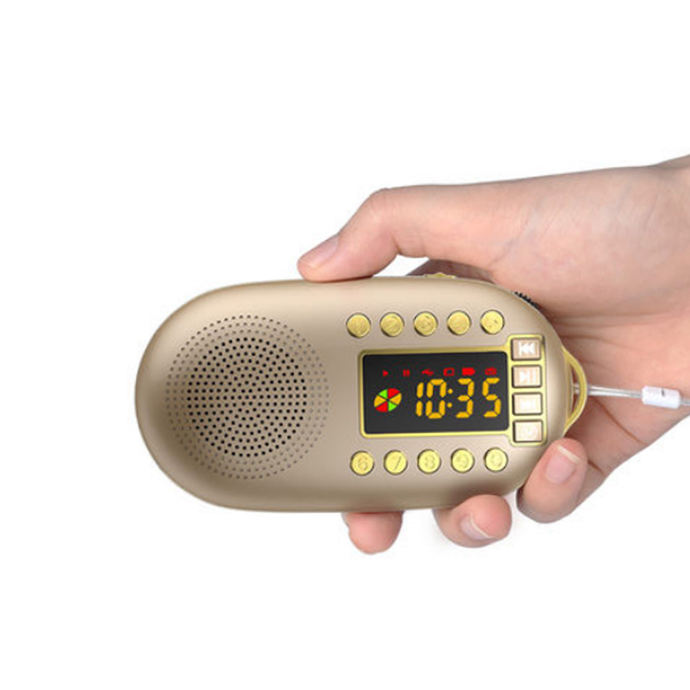 E2958-mini FM radio-gold
