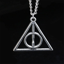 Buy 2018 hot accessories necklace Fashion pendant Triangle Hot movie deathly hallows movie necklace cheapest price Harry Potter for $1.22 in AliExpress store