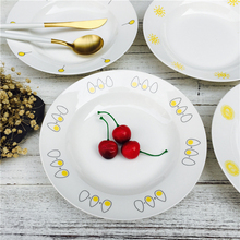 Fashion Creative Ceramic Plate Dish Tableware 8 inch Soup Dishes Italy Noddle Dishes, JSF-Dishes-018