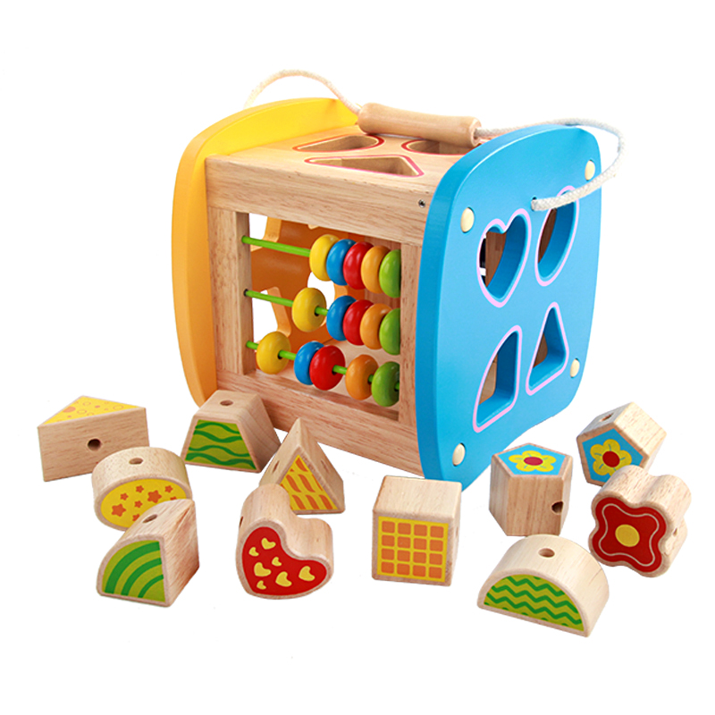 Baby toys Wooden Multi-purpose shape intelligence box early Educational toys for Children Boy and girls Gift High Quality<br>