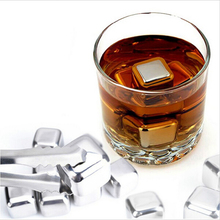 HOt Sale Whiskey Wine Beer Stones Stainless Steel Cooler Stone Ice Cube Chiller Stone