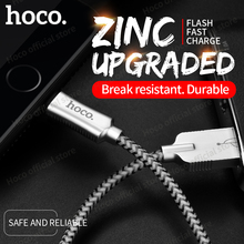 HOCO Zinc Alloy Reflective Braid Charging Sync Data USB Cable for Apple Plug iPhone iPad 2.4A Original Fast Charger USB Wire(Hong Kong)