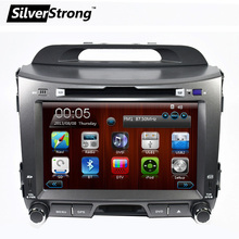 SilverStrong 2 Din 8 inch Radio For Kia Sportage2 Car DVD Player GPS Navigation Multimedia Sportage 2 Radio Free GPS map