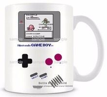 DIY New Gameboy Ceramic white coffee tea milk mug Pokemon funny novelty travel cup Personalized Birthday Easter gifts(China)