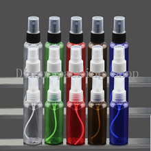 50CC NEW Perfume Atomizer Sprayer Spray Bottles Transparent/red/blur/green/brown  Small Empty Spray Bottle 50ML wholesale