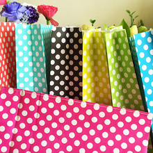 10pcs Kraft Polka Dot Paper Bags Gift Bags Food toaster Sandwich Bread Bags Party Wedding supplies Wrapping Gift takeout Bags