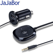 JaJaBor BC20 Bluetooth Car Kit Handsfree Speakerphone Bluetooth 2.1 with 5V 2.1A USB Car Charger for iPhone Mobile Smartphone