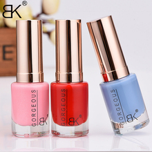 BK Brand New 2017 Stamping Nail Polish Long Lasting Quickly Dry Glitter Nail Lacquer Sweet 48 Colors Stamp Enamel Paint 12ml(China)