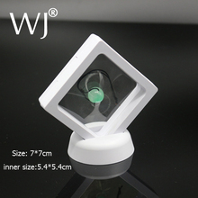 PET Membrane Jewelry Ring Pendant Display Stand Holder Bague Packaging Box Protect Jewellery & Stones Floating Presentation Case(China)