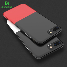 FLOVEME Original For iPhone 7 6 6S Plus Phone Case Luxury 2 in 1 Combo Hard Plastic Cover For iPhone 6 6S 7 Case Accessories Bag