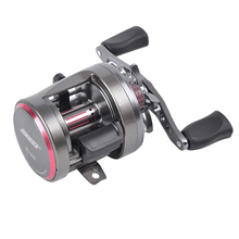 Left-Right Optional Lure Fishing Reel Super Strong Pull Tornado Cast Drum Reel, Bait Casting Wheel Fishing Reel(China)