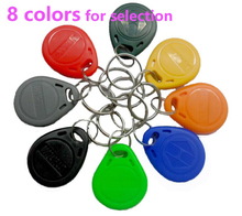 100pcs/lot RFID 125khz Tags TK4100 Rfid Card Token Key Rfid Tag Access Control Acceso Pulseira 8 COLOR Smart Card ID Keyfobs