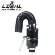 LZONE RACING - Universal Racing Carbon Fiber Cold Feed Induction Kit Air Intake Kit Air Filter Box Witout Fan JR-AIT13(China)