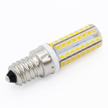 1pcs Mini E14 Corn 64LEDs Refrigerator Light SMD 2835 LED Candle bulb Replace 10W Compact Fluorescent Lamp Warm Cold White 220V