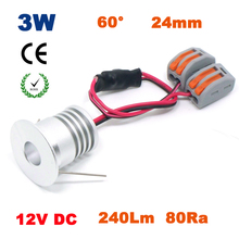 12PCS 3W DC 12V 23mm cut 240Lm 80Ra COB mini led light outside decking lights downlight party decoration(China)