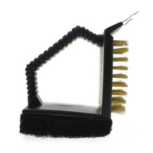 3 in 1 Steel Wire Barbecue Grill Cleaning Brush Cleaner Sponge Brusher