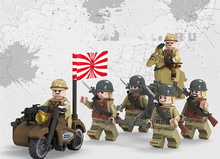 6pcs D71012 WW2 Military Chinese VS Japanese Army Building Brick Set Legoingly Taierzhang Battle Model Block Toy For Kids(China)