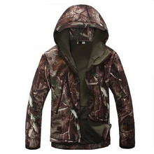 Lurker Shark Skin Soft Shell V5.0 Outdoors Military Tactical Jacket Waterproof Windproof Hunter Camouflage Army Clothing(China)