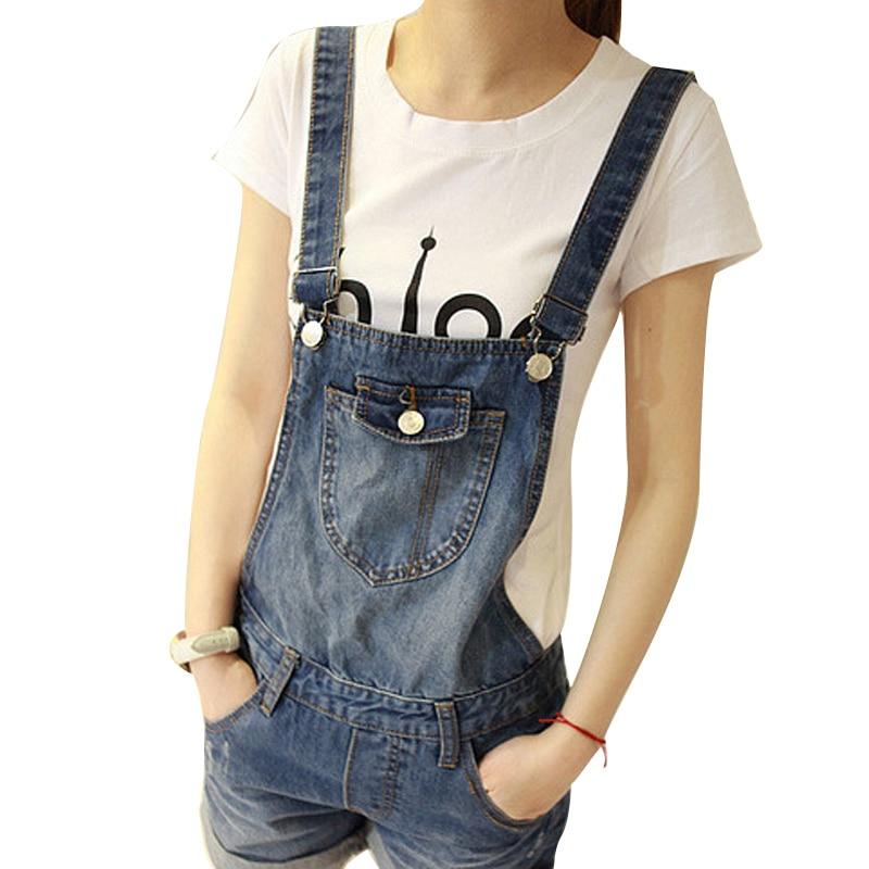 New Women Girls Casual Vintage Wash Denim Overall Suspender Jean Trousers Pants Boyfriend style denim Shorts blueОдежда и ак�е��уары<br><br><br>Aliexpress