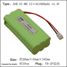 1 pcs Original NEW 12*AA 1800mAh 14.4V AA NI-MH Rechargeable Battery Pack With Plug For Vacuum sweeper Po nimh battery