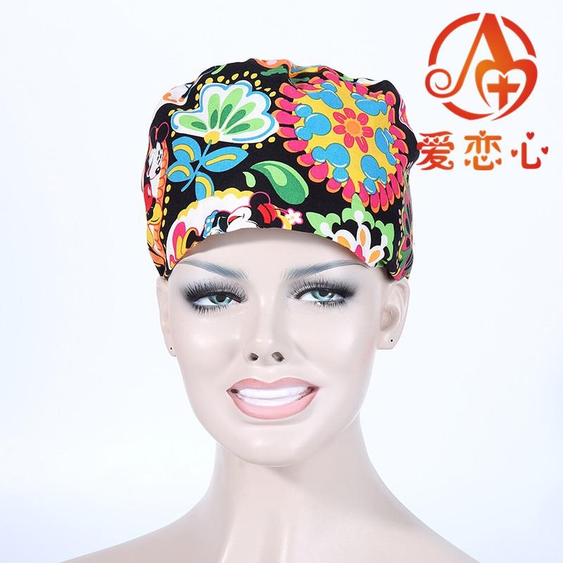 Fashion Women Doctors and nurses Surgical caps, for cosmetologists servers Pharmacy staff cotton adjustable casual  ALX-98Îäåæäà è àêñåññóàðû<br><br><br>Aliexpress
