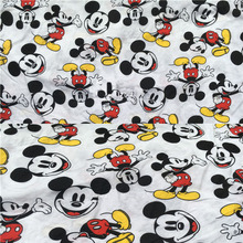 Wide 140cm *1m Cartoon Mickey Fabric Knitted Cotton Fabric Stretch Mickey Minnie Printed Jersey Fabric Diy Sewing Baby Clothing