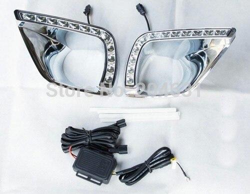 High quality LED Daytime running lights front Fog lamp Fog Lights For 2014 Toyota RAV4 fast air free shipping<br><br>Aliexpress