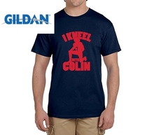 GILDAN I Kneel With Colin Kaepernick funny t shirts Mens 7 Fashion T-shirts for 49ers fans(China)
