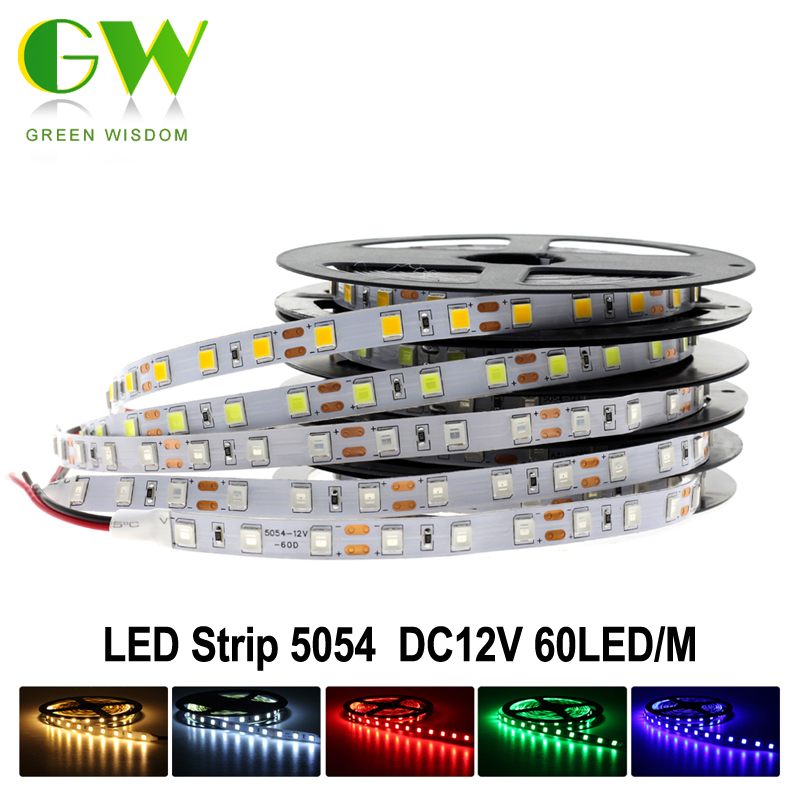 LED Strip 5054 DC12V Flexible LED Light 60 LED/m 5m/lot, 5054 is the Upgrade of 5050, Brighter than 5050.(China (Mainland))