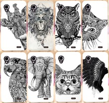 Hard Back PC Cover Phone Shell Cover Case For Lenovo P770 Owl Pattern Animal Head Pattern case for Lenovo P770