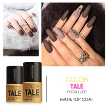 FOCALLURE Matte Top Nail Gel 1pcs 12ML Soak Off UV Gel Nail Polish Gel Vernis Gel Nail Top Coat