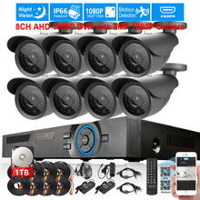 Full HD 2MP 1080P waterproof day/night Camera Security Surveillance CCTV System 8CH Full HD 1080P DVR recorder USB 3G WIFI 36led