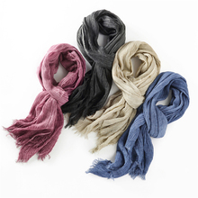 New 2017 Fashion Winter Scarf Men Women Ladies Cotton Scarf Warm Female Shawls And Scarves Echarpe(China)
