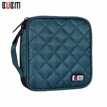 BUBM 32 Capacity CD Storage Bag Grid Square Shape Waterproof CD/ DVD Storage Wallet CD Organizer Case