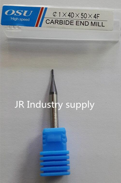 1PCS OSU 1*4D*50*4F HRC 45 carbide end mills<br><br>Aliexpress