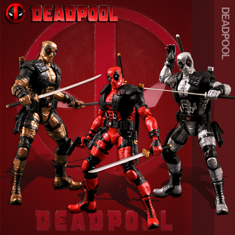 NEW hot 33cm Super hero X-Men Deadpool 2 movable action figure toys collection Christmas gift doll<br>