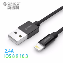 ORICO USB Cable for iPhone 6S 2.4A Lightning to USB Cable Fast Charger Data Cable For iPhone 5S 6 7 iPad Mobile Phone Cables(China)