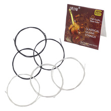 High Quality Guitar Strings 6pcs Classical Guitar String Set Black Nylon Core Silver-Plated Copper Wound 1st-6th(.028-.043)(China)