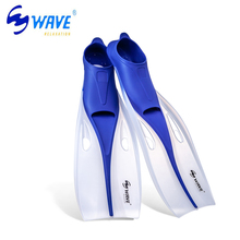 WAVE Adult Flexible Comfort Swimming Fins Submersible Snorkeling Foot Profession Diving Fins Flippers Water Sports 4 Size S-XL