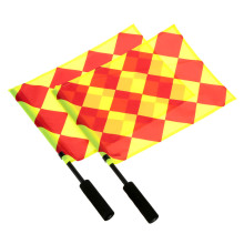 Soccer Referee Flag with Carry Bag Football Judge Sideline Fair Play use Sports Match Football Linesman Flags Referee Equipment