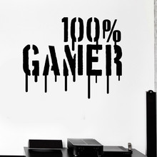 Gamer Art Wall Vinyl Wall Stickers Mural Wallpapers Tattoos Wall Kids Room / Room Games Infant Wall Decor(China)