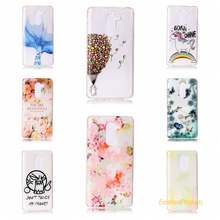 balloon flower leaf butterfly cat Relief Painted TPU Phone cover shell for Huawei Honor 6X phone case