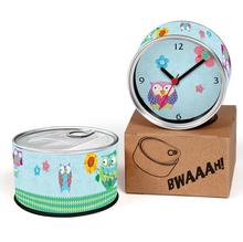 Night Owl 2pcs/lot Isarel Birds of Minerva Hooter Kitchen Fridge Magnets Aluminum Can Wall Clocks,Metal Tin Desk Clocks