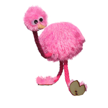 Marionette Doll Muppets Animal muppet hand puppets toys wool rope ostrich Birl Marionette doll for kids wooden puppet doll toys
